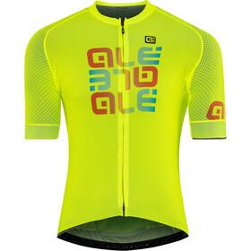Alé Cycling Solid Mirror Maillot Manga Corta Hombre, flou yellow